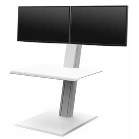 IN STOCK! Humanscale Quickstand Eco, Dual Monitor, White