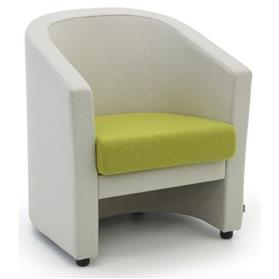 Verco Roma Tub Chair Cream and Green