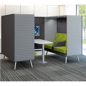 Elite Retreat Double Seating Booths Green