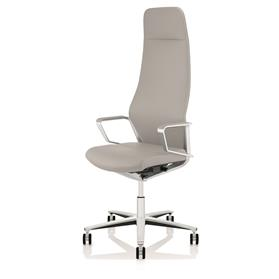 NEXT DAY DELIVERY! Zuco Signo High Backrest Executive Office Chair in Platin Grey Leather