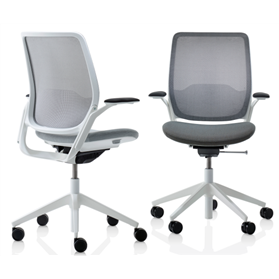 Orangebox Eva Office Chair with White Plastic Trim