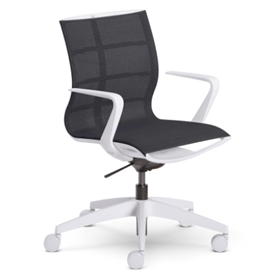 Sedus se:joy chair white Black Mesh