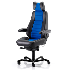 KAB Controller Heavy Duty 24HR Chair, Dark Blue 24/7 Fabric