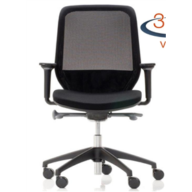 Orangebox Joy 12 Mesh Chair, Black Edition