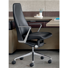 herman miller geiger taper leather chair