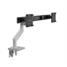 Humanscale M8.1 Monitor Arm with Crossbar, Silver with Grey Trim