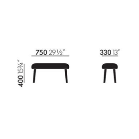 Panchina Footstool dimensions