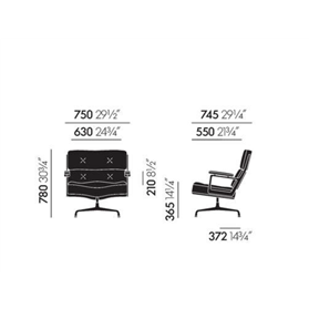 Lobby Chair ES 105 Dimensions