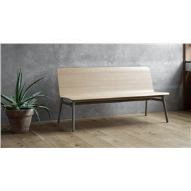 Allermuir Axyl Wooden Shell bench No Arms By PearsonLloyd