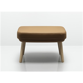 Allermuir Tarry Footstool with wooden Legs