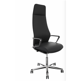 NEXT DAY DELIVERY! Zuco Signo High Backrest Executive Office Chair in Midnight Black Leather