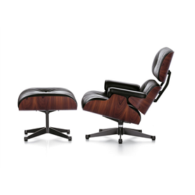 Vitra Eames Lounge Chair and Ottoman by Charles & Ray Eames, Santos Palisander