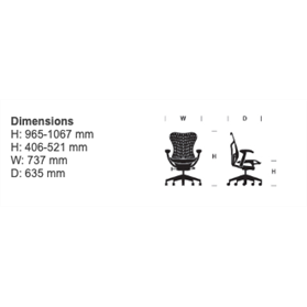 herman miller mirra dimensions