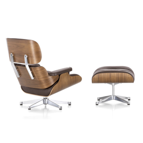 Vitra Eames Lounge Chair and Ottoman American Cherry