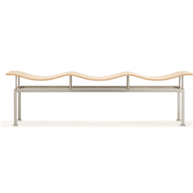 Allermuir Wave Wooden Bench