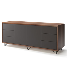 Boss Design Credenza 740mm High, Wire Feet
