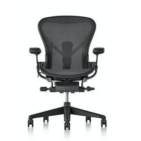 IN STOCK! Herman Miller Aeron Graphite Finish Size B (Medium)