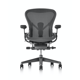 NEXT DAY DELIVERY! Herman Miller Aeron, Carbon Finish Size B