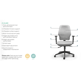 Torasen orthopaedica 200 series chair information