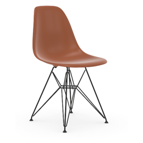 Vitra Eames DSR Chair, Rusty Orange , Basic Dark Legs