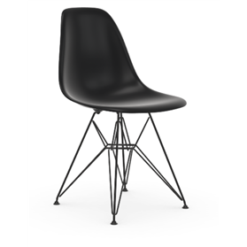 Vitra Eames DSR Chair Deep Black, Basic Dark Legs
