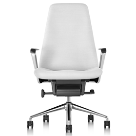 herman miller geiger leather chair white