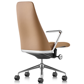 herman miller taper chair in brown leather