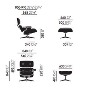 Vitra Lounge Chair Classic Dimensions