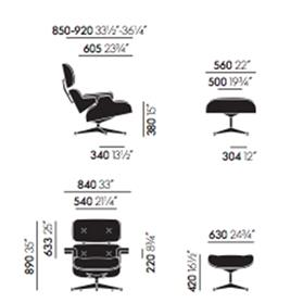 Vitra Lounge Chair New Dimensions