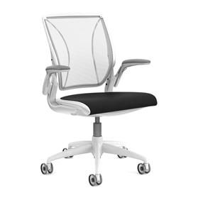 NEXT DAY DELIVERY! Humanscale Diffrient World Chair White - Fabric Seat 15 Year Guarantee