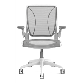 Diffrient World Chair White, Black mesh