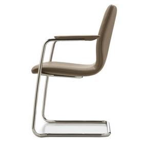 William Hands Cypher Cantilever leather chair side