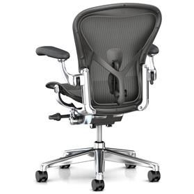 herman miller aeron carbon with polished frame
