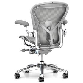 New Herman Miller Aeron Mineral with Polished Aluminium Rear