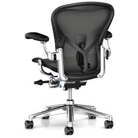 Herman Miller Aeron Executive Leather arms Polished