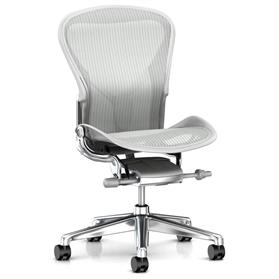 IN STOCK! Executive Herman Miller Aeron Polished with Mineral Frame Size B  No Arms
