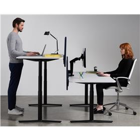 Boss Design ACDC Sit-Stand Height Adjustable Desk, Melamine Finish