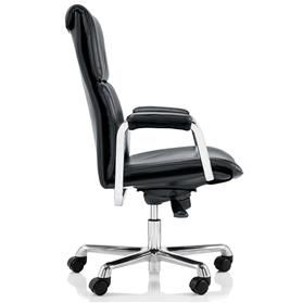 Boss Design Delphi High Back Leather Executive Office Chair - DEL/1, Black