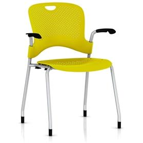 Herman Miller Caper Stacker Chair Lemon Yellow