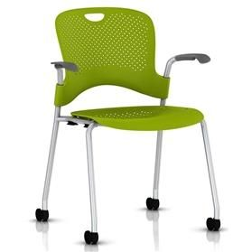 Herman Miller Caper Stacker Chair with Arms - Silver