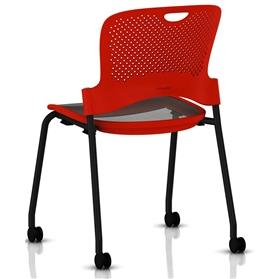Herman Miller Caper Stacker Chair Red and Black