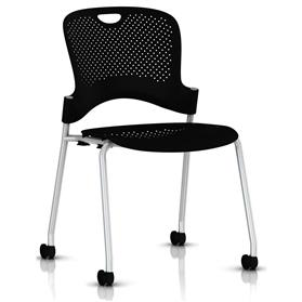 Herman Miller Caper Stacker Chair Black without Arms
