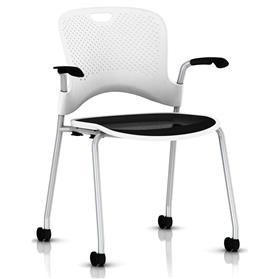 Herman Miller Caper Stacker Chair with Flexnet Seat White