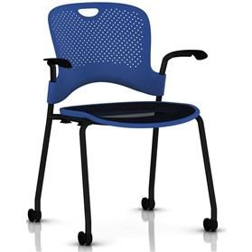 Herman Miller Caper Stacker Armchair with Flexnet Seat - Black