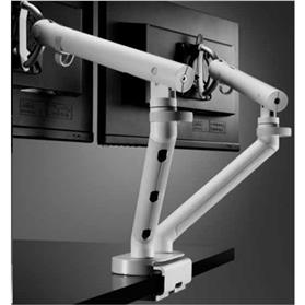CBS Flo Dual Monitor Arms, White