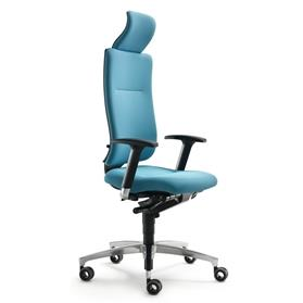 Dauphin InTouch High Back Swivel Chair with Neckrest Blue