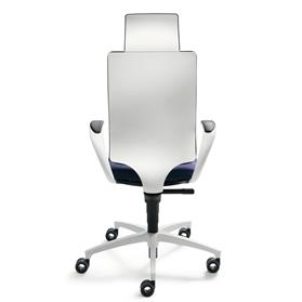 Dauphin InTouch High Back Swivel Chair with Neckrest White Edition Back