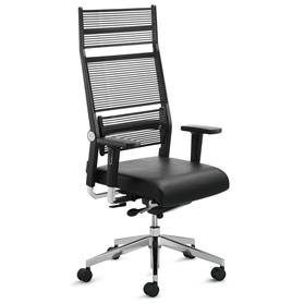 Dauphin Lordo High Back Office Chair with Neckrest Black