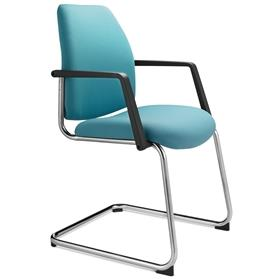 Dauphin Shape Visitor Cantilever Chair Blue