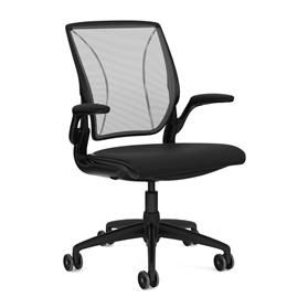 Humanscale Diffrient World Chair Black and Black Front